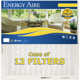 Energy Aire 12-Pack 23-in x 23-in x 1-in Pleated Air Filters