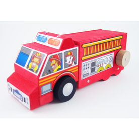 Build and Grow Kid&#039;s Beginner Build and Grow Fire Truck Project Kit