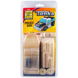 Build and Grow Kid's Beginner Tonka Police SUV Project Kit
