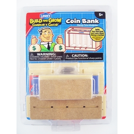 Build and Grow Kid's Beginner Build and Grow Coin Bank Project Kit