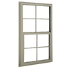BetterBilt 3040TX Aluminum Double Pane Single Strength New Construction Single Hung Window (Rough Opening: 24-in x 36-in; Actual: 23.375-in x 35.5625-in)