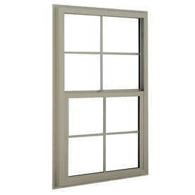 BetterBilt 3040TX Aluminum Double Pane Single Strength New Construction Single Hung Window (Rough Opening: 36-in x 36-in; Actual: 35.375-in x 35.5625-in)