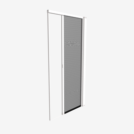 Shop phantom screens 36 in x 81 1 4 in white prehung for Disappearing screen doors lowes