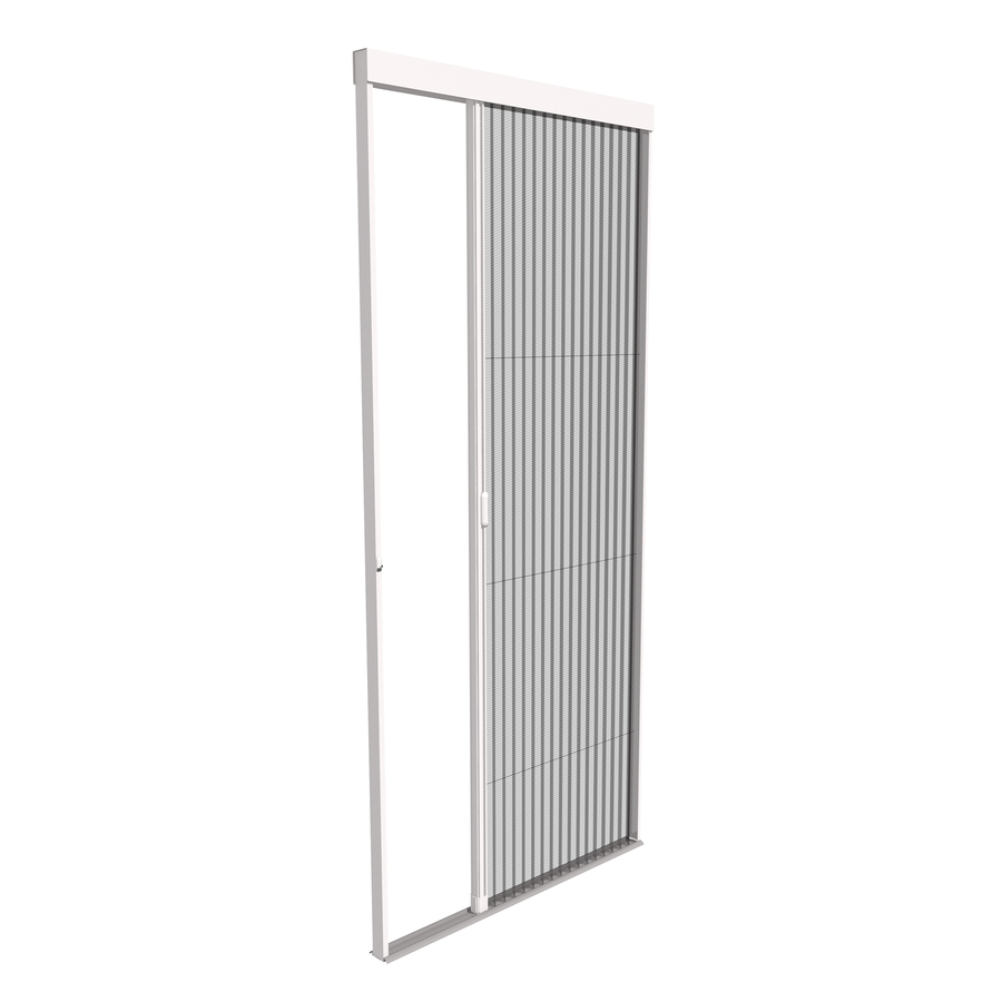 Shop phantom screens 36 x 80 1 2 vantage white for Disappearing screen doors lowes