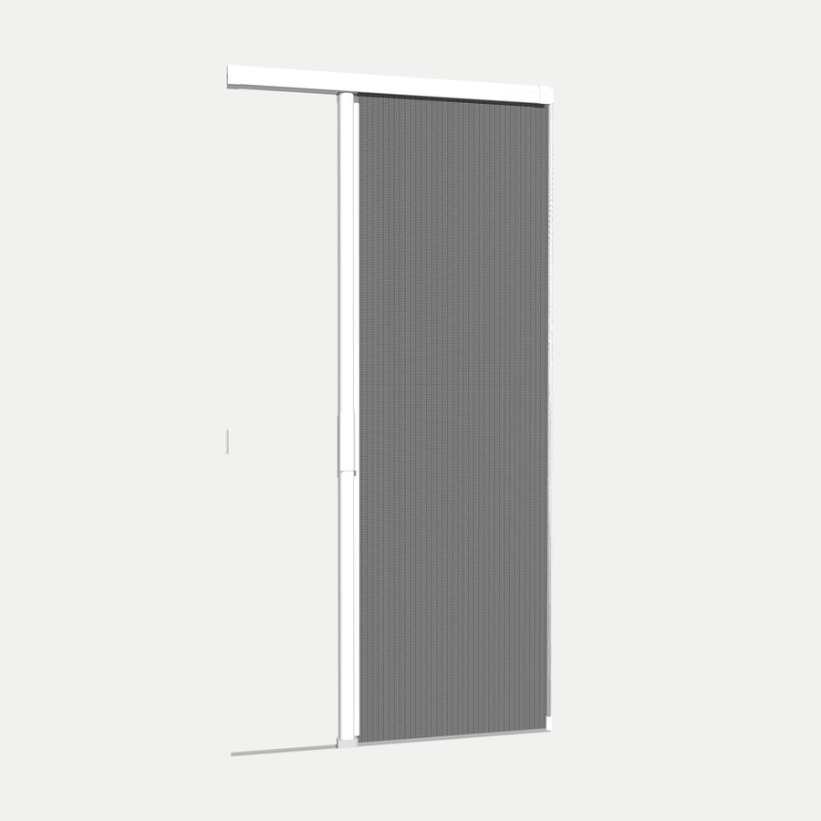 Shop phantom screens 36 in x 81 3 16 in white prehung for Disappearing screen doors lowes