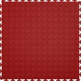 Perfection Floor Tile 8-Piece 20.5-in x 20.5-in Terracotta Raised Coin Garage Floor Tile