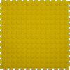 Perfection Floor Tile 8-Piece 20.5-in x 20.5-in Yellow Raised Coin Garage Floor Tile