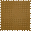 Perfection Floor Tile 20-1/2-in W x 20-1/2-in L Tan Raised Coin Garage Vinyl Tile