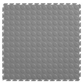 Perfection Floor Tile 8-Piece 20.5-in x 20.5-in Light Gray Raised Coin Garage Floor Tile