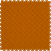 Perfection Floor Tile 20-1/2-in x 20-1/2-in Orange Diamond Plate Garage Flooring Tile