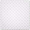 Perfection Floor Tile 20-1/2-in W x 20-1/2-in L White Diamond Plate Garage Vinyl Tile