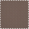 Perfection Floor Tile 20-1/2-in W x 20-1/2-in L Tan Diamond Plate Garage Vinyl Tile