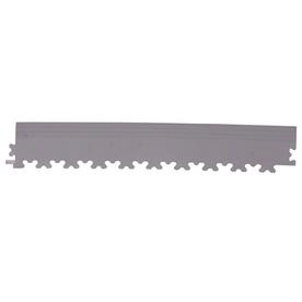 Perfection Floor Tile 4-Pack Light Gray 3-in W x 20-1/2-in L Garage Flooring Edges