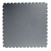 Perfection Floor Tile 20-1/2-in W x 20-1/2-in L Dark Gray Raised Coin Garage Vinyl Tile