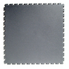 Flexi-Tile 20-1/2-in x 20-1/2-in Dark Gray Raised Coin Garage Flooring Tile