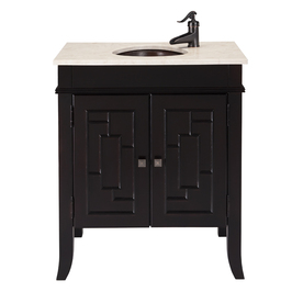 Bath Vanity Combo with Copper Sink at Lowes Vanities Bathroom