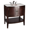 allen + roth Renovations 30-in x 22-in Merlot Single Sink Bathroom Vanity with Cultured Marble Top