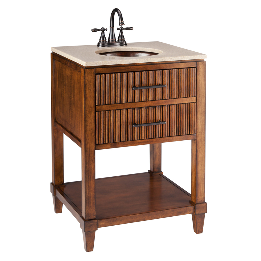 Shop thompson traders renovations espresso undermount single sink bathroom vanity with cultured Lowes bathroom vanity and sink