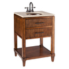 Thompson Traders Renovations Espresso Undermount Single Sink Asian Hardwood Bathroom Vanity with Cultured Marble Top (Actual: 24-in x 22-in)