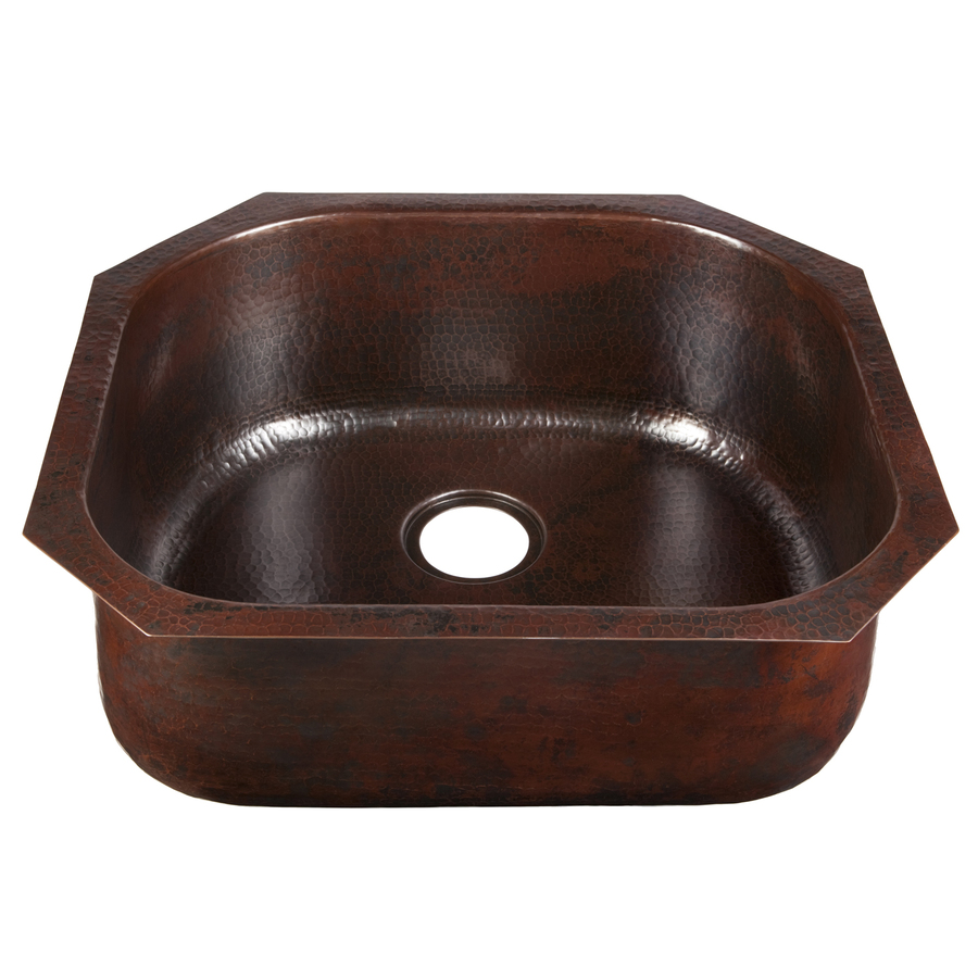 Shop Renovations By Thompson Traders Riviera 14 Gauge Single Basin Undermount Copper Kitchen