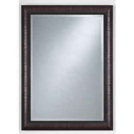 Thompson Traders 32-in H x 22-in W Renovations Espresso Rectangular Bathroom Mirror