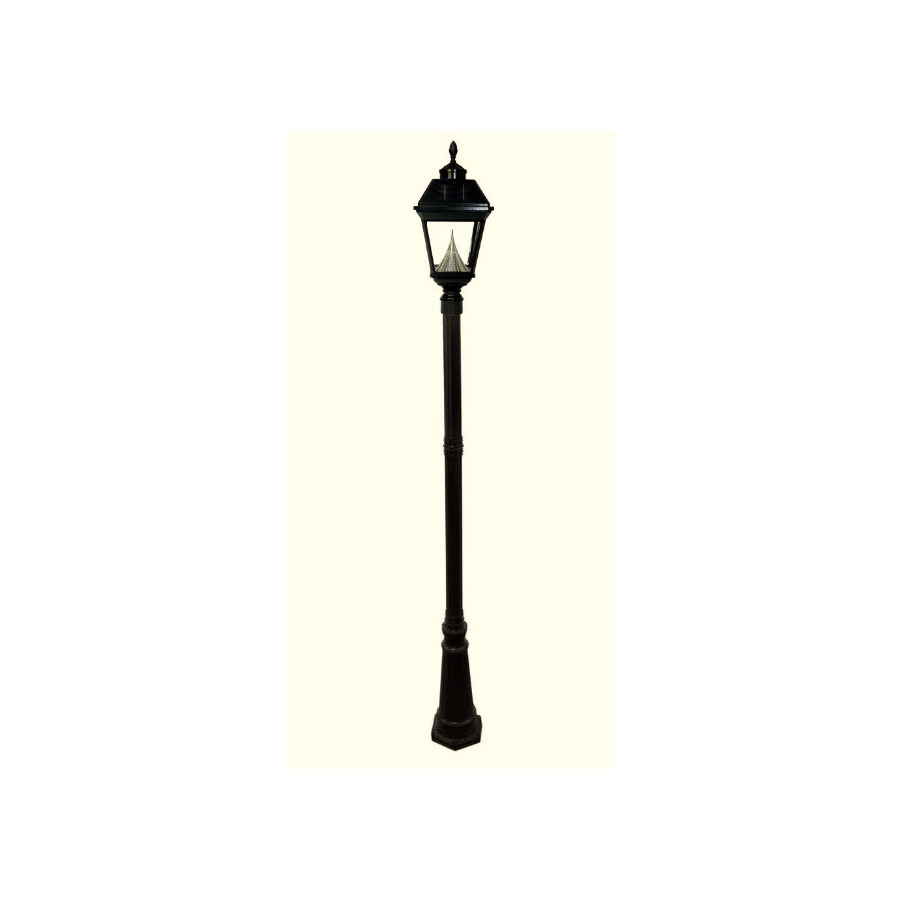 Shop Gama Sonic Imperial 102 In H Black Solar Led Post
