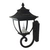 Gama Sonic Pagoda Black Solar-Powered Wall-Mount Post Light