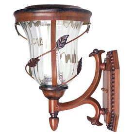 Shop Gama Sonic Flora 13-in H LED Antique Bronze Solar Outdoor Wall Light at Lowes.com