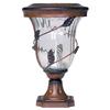 Gama Sonic Flora 12-in H Antique Bronze Solar LED Pier-Mount Light