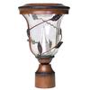 Gama Sonic Flora 12-in H Antique Bronze Solar LED Post Light