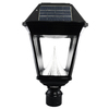 Gama Sonic Imperial II 19-in H Black Solar LED Post Light