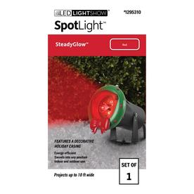 GEMMY CONSTANT RED LED LIGHTSHOW SPOTLIGHT WITH GROUND STAKE