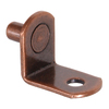 The Hillman Group 5-Pack 0.25-in Bronze L Shape Shelving Hardware