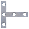 The Hillman Group 5-Pack 4-in x 4-in Zinc-Plated Flat Brace