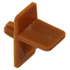 The Hillman Group 40-Pack 1/4-in Tan Square Shelf Supports