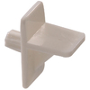 The Hillman Group 40-Pack 1/4-in White Square Shelf Supports