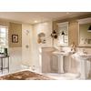 Moen Caldwell Spot Resist Brushed Nickel 2-Handle 4-in Centerset WaterSense Bathroom Sink Faucet (Drain Included)