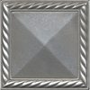 Somerset Collection 8-Pack 4-in x 4-in Somerset Bright Nickel Metal Square Accent Tile