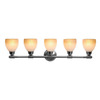Access Lighting 42-in W Greko 5-Light Oil-Rubbed Bronze Arm Wall Sconce