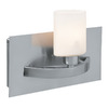 Access Lighting 9-in W Cosmos 1-Light Brushed Steel Arm Wall Sconce