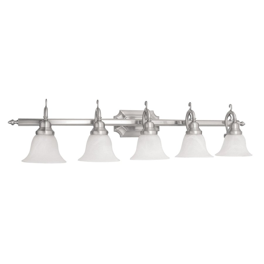Vanity Lights In Brushed Nickel : Shop Livex Lighting 5-Light French Regency Brushed Nickel Bathroom Vanity Light at Lowes.com