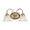 Livex Lighting 2-Light Edgemont Antique Brass Bathroom Vanity Light