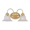 Livex Lighting 2-Light Edgemont Polished Brass Bathroom Vanity Light
