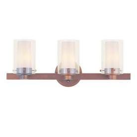 Bronze Bathroom Lighting on Livex Lighting 3 Light Manhattan Vintage Bronze Bathroom Vanity Light