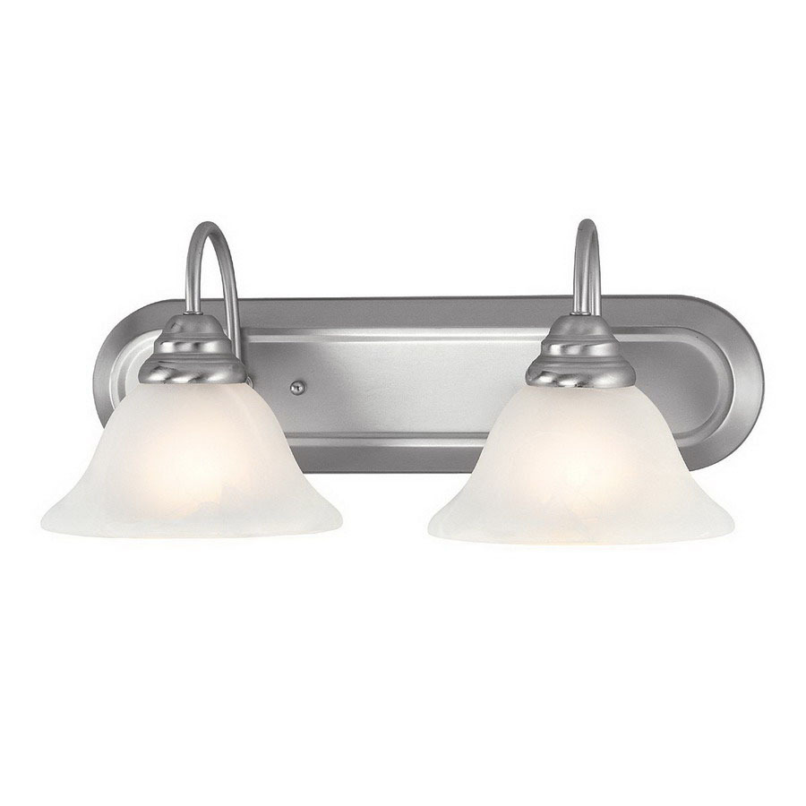 livex lighting 2 light coronado brushed nickel bathroom vanity light. Black Bedroom Furniture Sets. Home Design Ideas