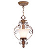 Livex Lighting 9-in W Savannah Venetian Patina Mini Pendant Light