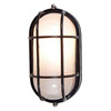 Access Lighting Nauticus 4-1/2-in Black Outdoor Wall Light ENERGY STAR
