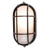 Access Lighting Nauticus 6-3/4-in Black Outdoor Wall Light