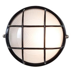 Access Lighting Nauticus 7-1/2-in Black Outdoor Wall Light