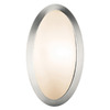 Access Lighting Cobalt 6.25-in W 1-Light Brushed Steel Pocket Hardwired Wall Sconce